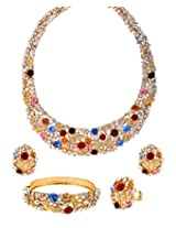 Multicolor crystals royal Jewellery Set