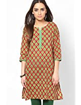Red Printed Kurtis Shree