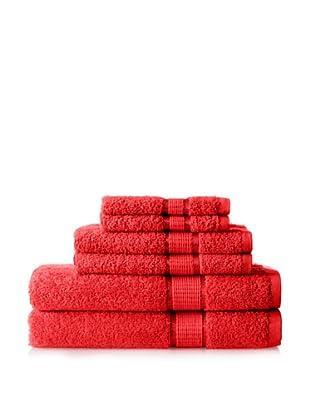 Espalma Ambassador 6-Piece Towel Set, Red