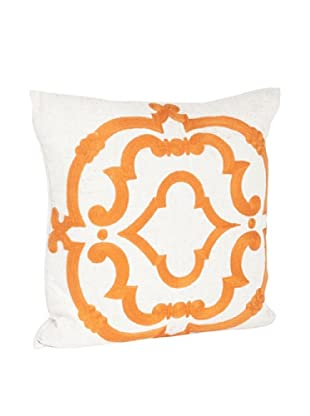 Saro Lifestyle Persimmon Embroidered Design Pillow