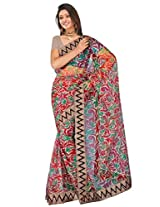 Sehgall Saree Indian Bollywood Designer Ethnic Professional Net Print with Fancy Border Saree Sari