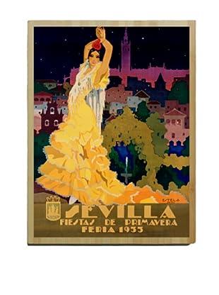 Artehouse 1933 Sevilla Fiesta Bamboo Wood Sign