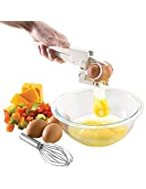 DivineXt Handheld Egg Cracker Separator Crack Raw Eggs With No Mess