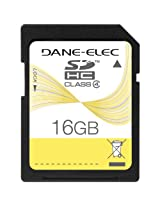Dane-Elec 16 GB Class 4 SDHC Flash Memory Card DA-SD-16GB-R