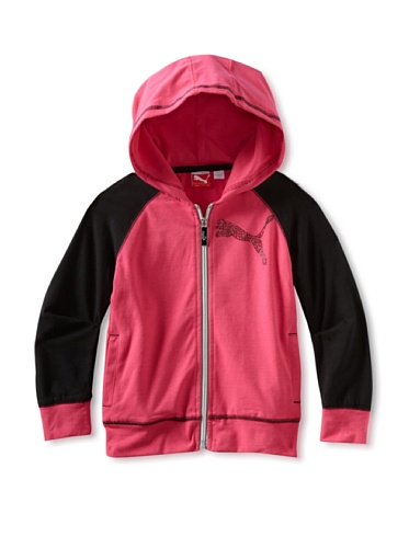 Puma Girl's 7-16 Raglan Hoodie Sweater (Pink)