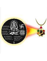 Dijyo Divine Darshan Gold Plated Lakshmi Mataji Pendant For Unisex(SGP15LA)