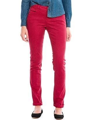 Springfield Pantalón Vaquero Color (Rojo)
