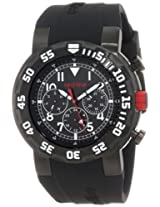 red line Men's RL-50027-BB-01W RPM Black Dial Black Silicone Watch