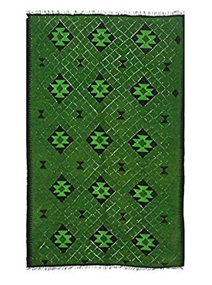 nuLOOM One-of-a-Kind Hand-Knotted Vintage Overdyed Kilim Rug, Green, 4' 11