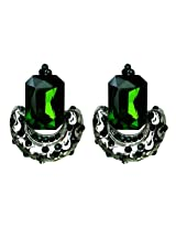 Green Crystal Earrings Jewellery for Party and Daily Wear