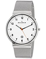 Skagen Analog White Dial Men's Watch - SKW6025I