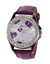 Geneva Purple Leather Analog Women Watch - GL-11