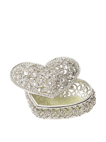 Olivia Riegel Luxembourg Heart Box (Silver/Clear)