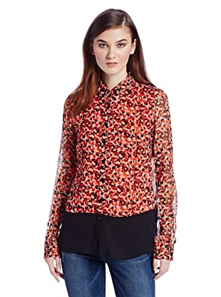 French Connection Camisa  Octavia (Multicolor / Negro)