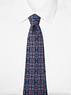 Hermès Men's H Horsebit Tie, Blue/Red, One Size