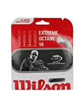 Wilson Sporting Goods Extreme Octane Tennis String Set 16-Gauge (Black)