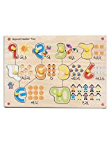 Skillofun Gujarati Numbers Shape Tray, Multi Color