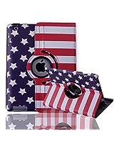 HDE iPad 2/3/4 Tablet Case Rotating Flip Stand Folding Folio Magnetic Cover Designer for Apple iPad 2/3/4 (Stars & Stripes)
