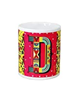 Chumbak Alphabet D Coffee Mug, 300ml
