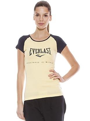 Everlast Camiseta Lovey (Vainilla / Azul Oscuro)