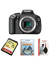 Canon EOS 600D 18MP Digital SLR Camera (Black) with Body Only, Camera Bag