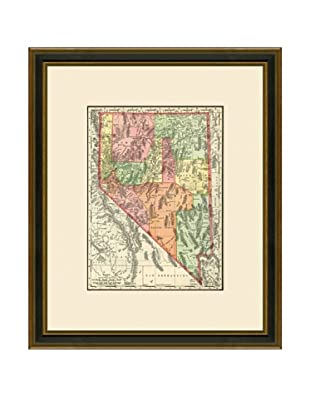 Antique Lithographic Map of Nevada, 1886-1899