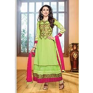 Karishma Kapoor Green Designer Anarkali Suit