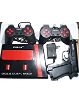 Digital Gaming World 8 Bit TV Video Game Console with 1 Game Cassete (Cartridge)