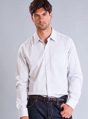 Timberland Camisa Cuadros Finos (Blanco / Azul)