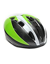 Cockatoo Skating / Cycling Adjustable Helmet Black/Green-White (S)