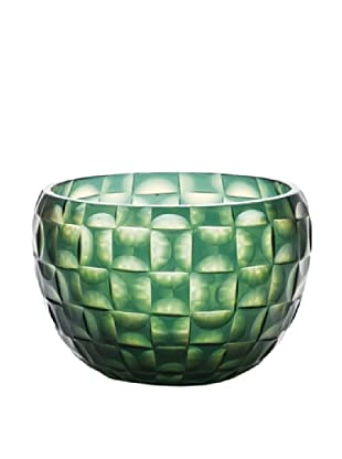 Dynasty Gallery Hand-Faceted Mouthblown Glass Bowl (Green)