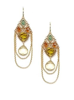 Diane Yang Chandelier Earrings, Lemon
