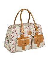 Lassig Vintage Metro Style Diaper Shoulder Bag Handbag Tote-Bag includes Matching Insulated Bottle Holder, wipeable Changing Mat, Stroller Hooks, Rosebud airytales