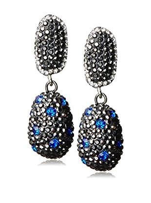 Grand Bazaar Blue CZ Drop Earrings