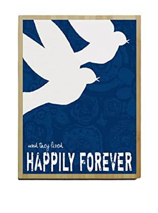 Artehouse Happily Forever Bamboo Wood Sign