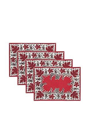 KAF Home Set of 4 Botanique Print Placemats