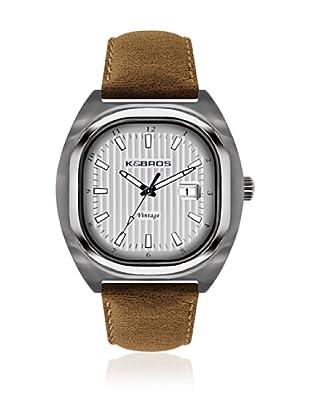 K&BROS Reloj 9451 (Camel Plateado)