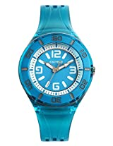 Calypso Blue PU Analog Women Watch K5588 5