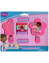 Disney Doc McStuffins 7 Piece Hair Accessory Set - Comb, Mirror and Ponytail Holders