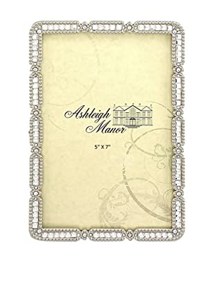 Ashleigh Manor Glass Photo Frame with Crystal Border