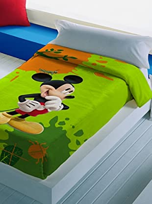 Disney Home Coperta Mickey Mouse (Verde)
