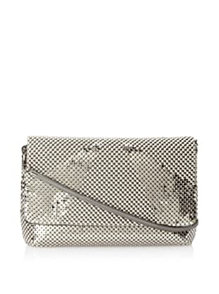 Whiting & Davis Women's Rays Crossbody Flap Clutch (Pewter)