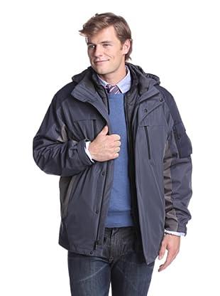 Calvin Klein Men's Rip Stop 3-in-1 Jacket (Inkwell)