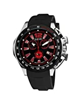 August Steiner Men's ASA803R Stainless Steel Sport Chronograph GMT Watch