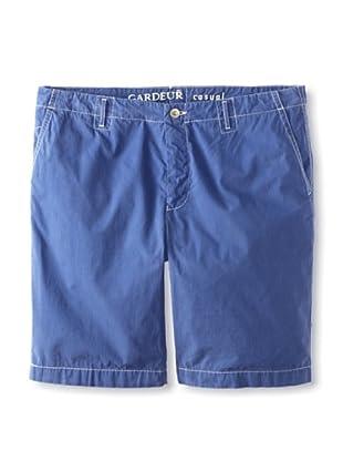 Gardeur Men's Flat-Front Short (Blue)