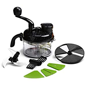 Wonderchef 60001500 Turbo Dual Speed Food Processor with Peeler (Black)