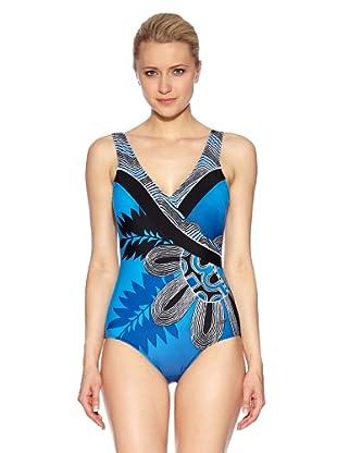 Susa Badeanzug mit Schale (schwarz/blau)