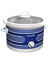 Crock-Pot SCR450-ST Slow Cooker, 4.5-Quart, Blue Stripe Pattern