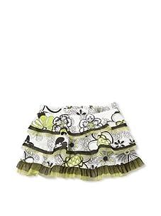 Beetlejuice London Girl's Azalea Floral Print Tiered Skirt (Multi)