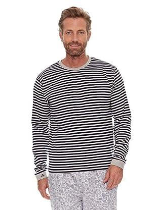 Cortefiel Camiseta Ryas (Gris / Negro)